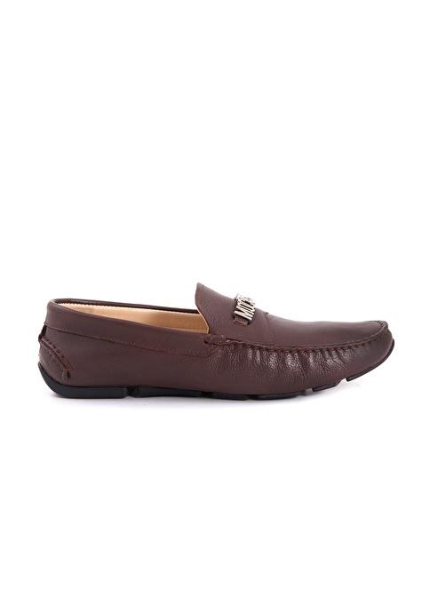Mocassini %100 Deri Loafer Ayakkabı Kahve